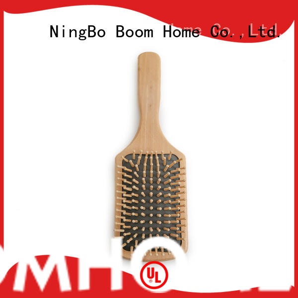 Boom Home natural wooden paddle hair brush factory for travel