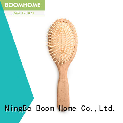 grooming natural wood hair brush design for travel Boom Home