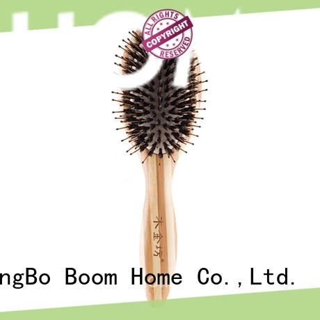 bamboo boar bristle hair brush factory for home