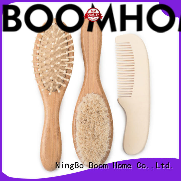 Boom Home round baby brush and comb directly sale for trottie