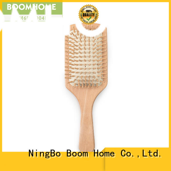 Boom Home handle bamboo paddle brush wholesale for men
