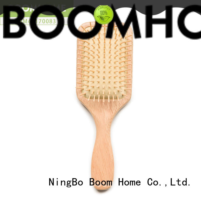 Boom Home round wooden hair comb series for hotel