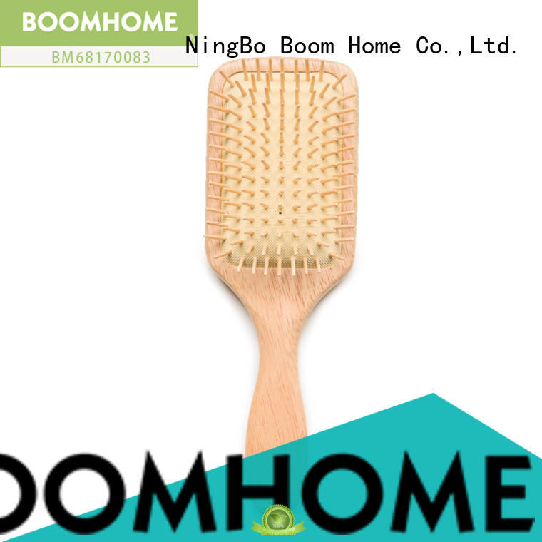 noble wooden paddle hair brush massage with good price for shop