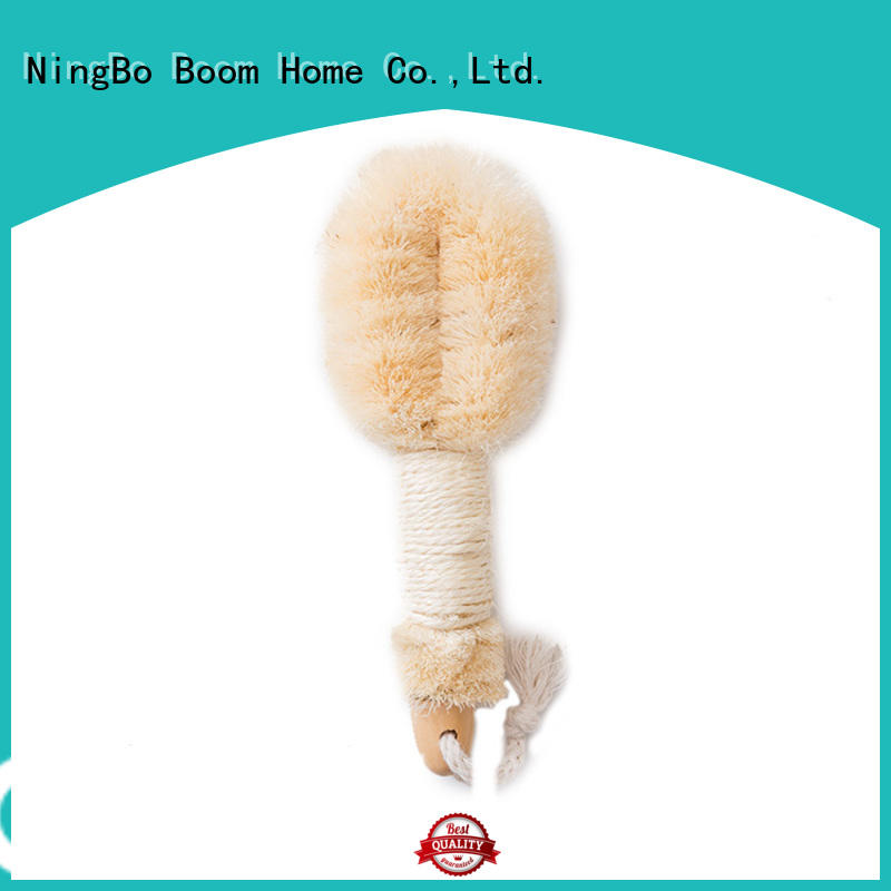 Boom Home long handle wooden body brush company for dry skin