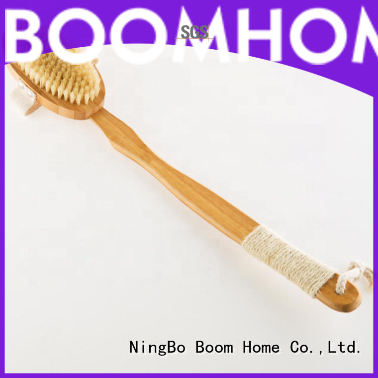 Custom back brush bamboo manufacturers for body