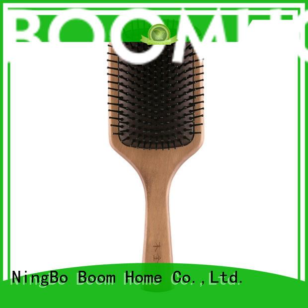 Boom Home eco-friendly wooden hair brush brushing for travel