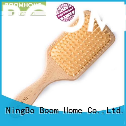 noble wooden hair brush private factory for travel