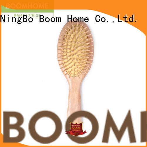 Boom Home airbag wood hair brush with good price for hotel