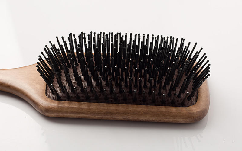natural wood hair brush holiday design for home-3