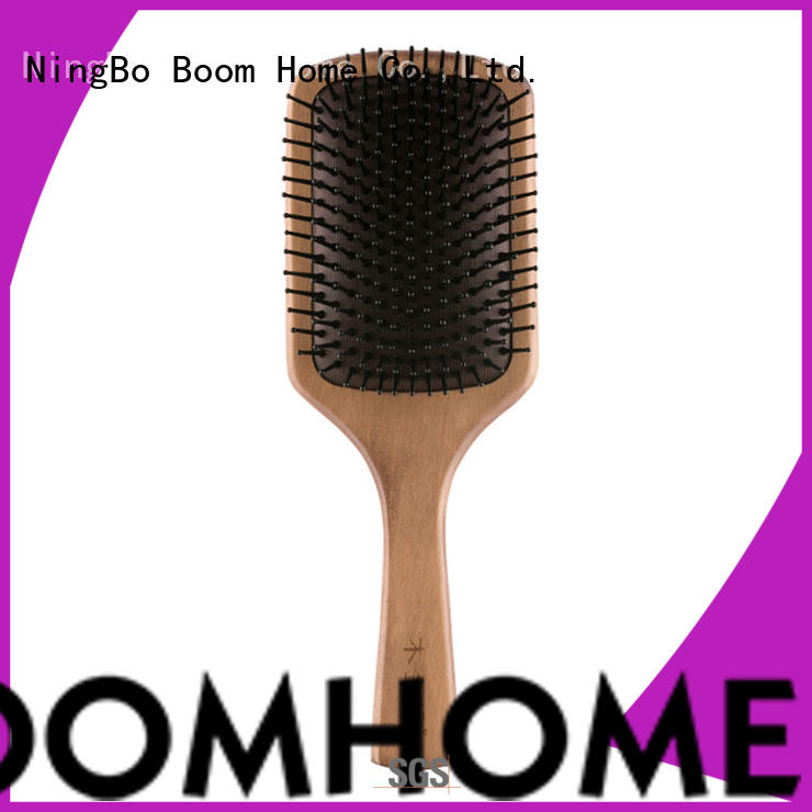Boom Home gifts wooden paddle hair brush design for hotel