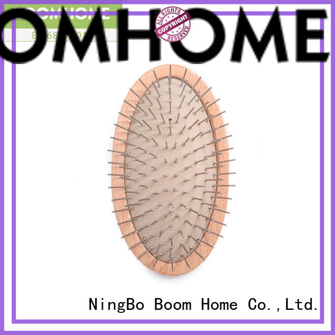 noble wooden hair brush with wooden bristles design for shop
