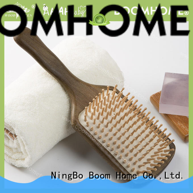 Boom Home brown wooden hair brush company for home
