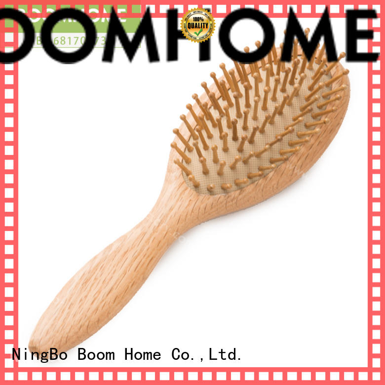 Boom Home nylon wooden paddle hair brush for business for hotel