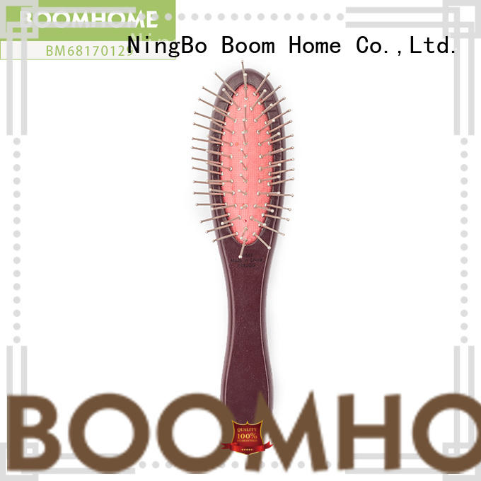 anti-static wooden paddle brush with wooden bristles supplier for hotel
