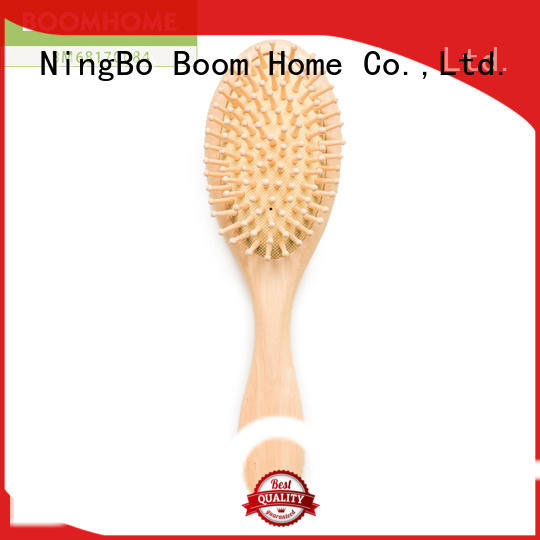 noble wooden paddle hair brush steel with good price for home
