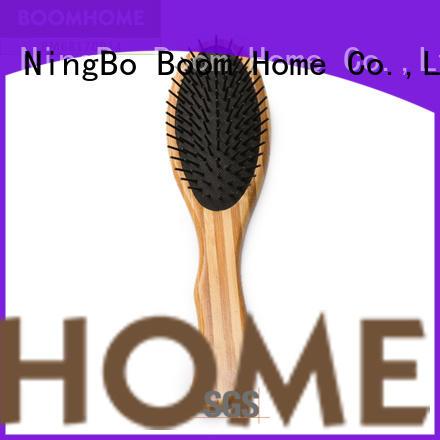 New bamboo hair brush pocket company for women