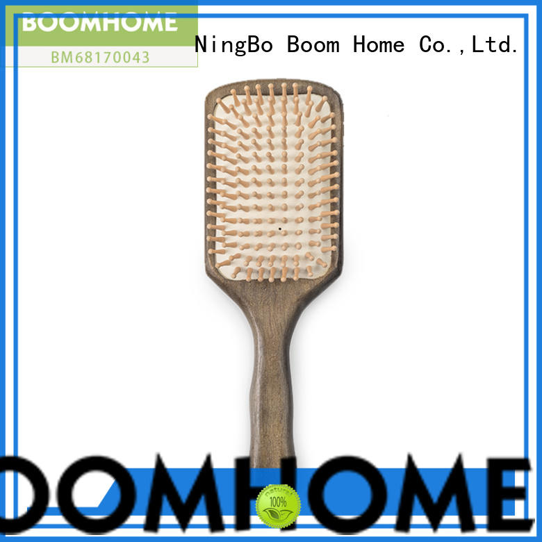 Boom Home brands wooden paddle brush with good price for travel