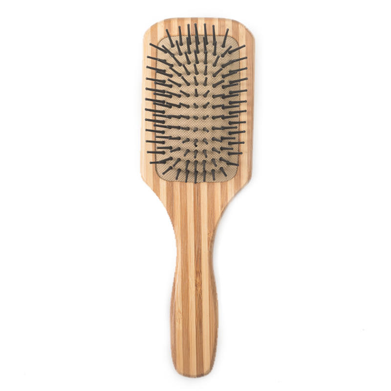 Natural Bamboo Hair Brush with Nylon Bristles Massage