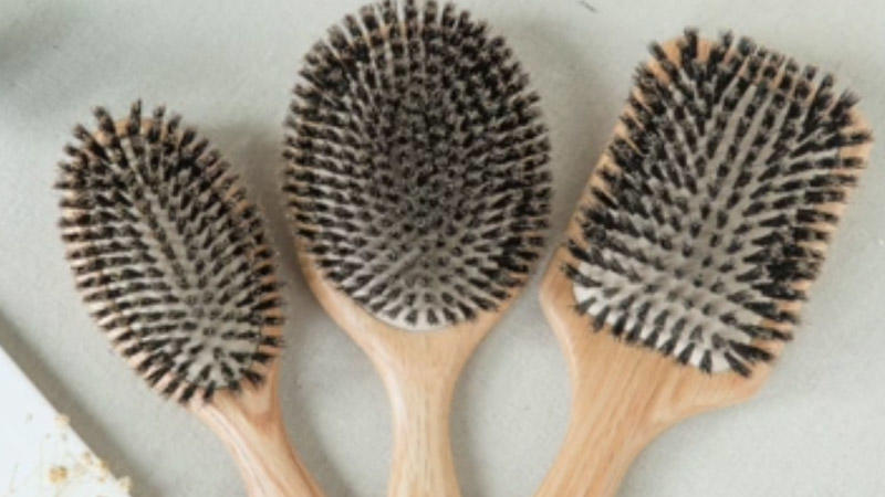 100% Oaken Boar Bristle Hair Brushes Restore Shine And Texture To Your Hair