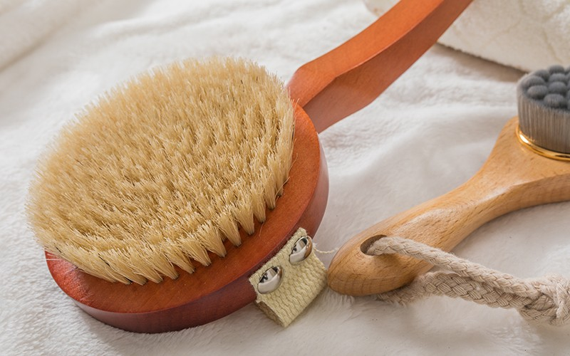Boom Home bristle wooden body brush supply for shower-2