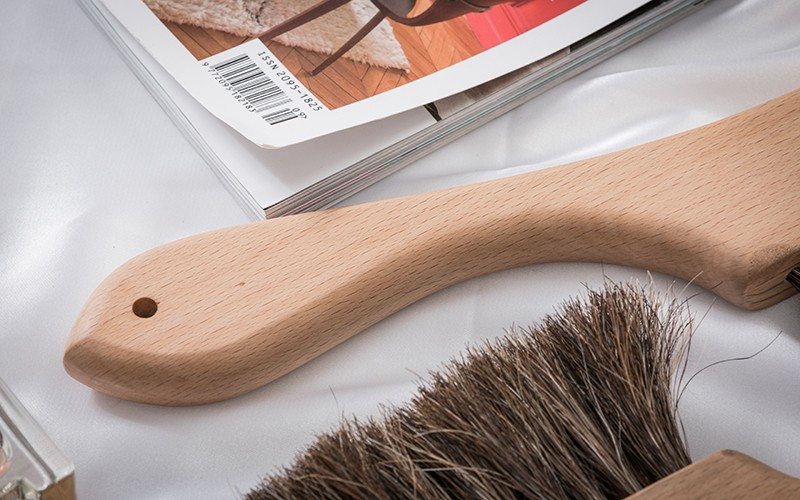 Top wooden bristle brush handle for business for clothe-1