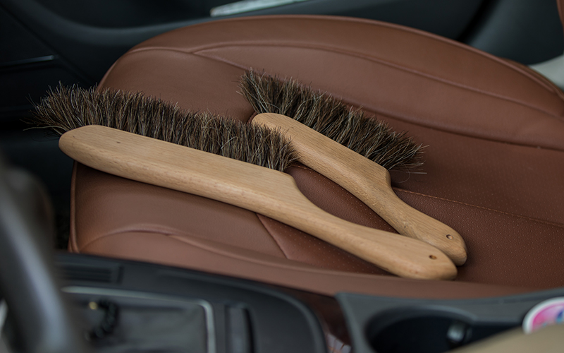 Top wooden bristle brush handle for business for clothe-3