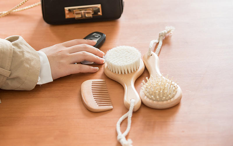 Custom baby hair brush brush for business for kids