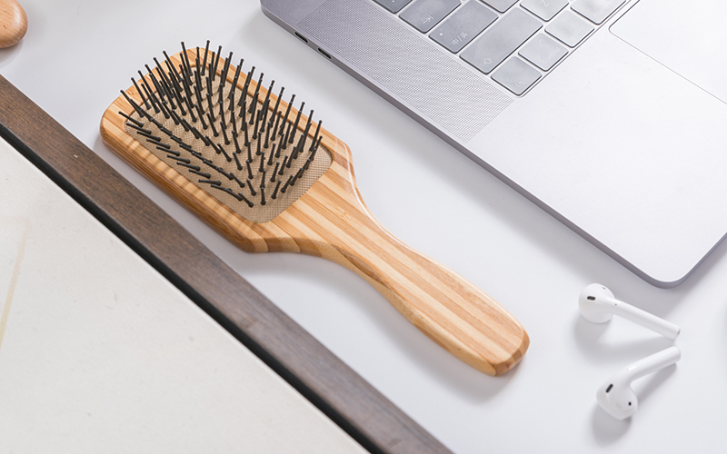 Boom Home paddle bamboo hair brush for sale for men-2