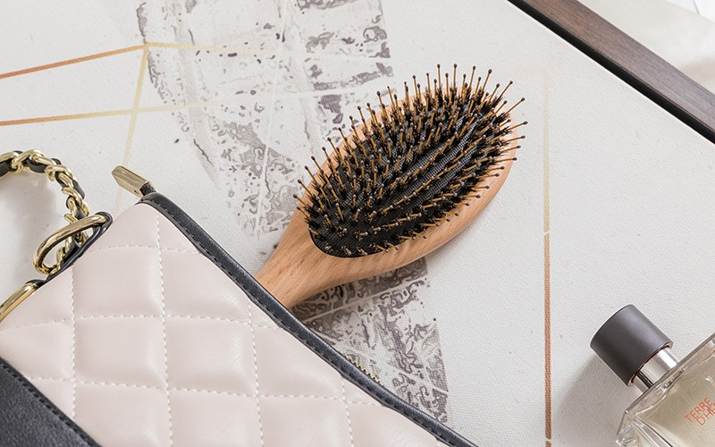 Boom Home wooden boar hair hairbrush with good price for men-4