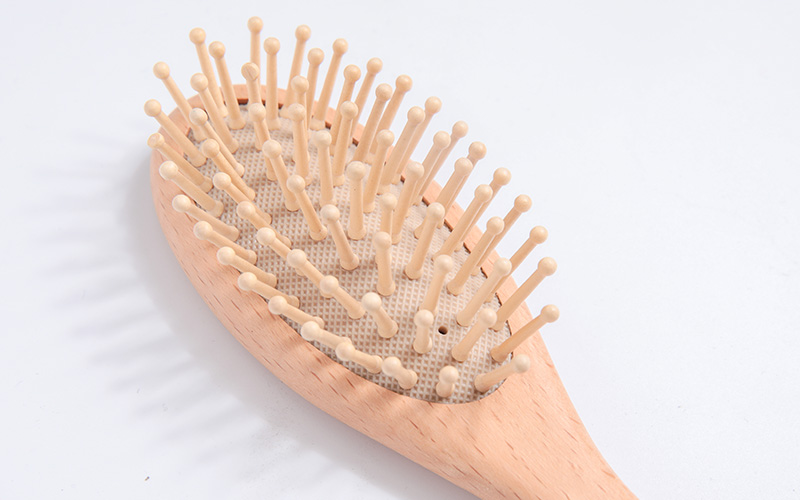 Eco-friendly Wooden Baby Hair Brush And Comb Set For Newborns & Toddlers-4