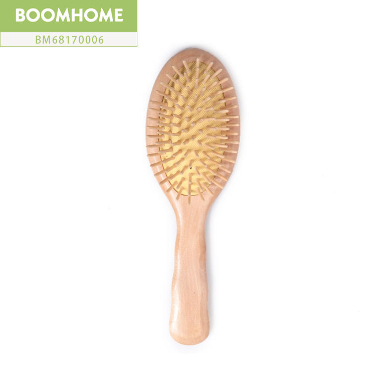 New Small Wooden Round Hair Brush With No Static Comb