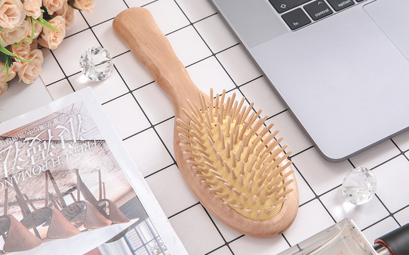 Best wooden paddle brush mahogany factory for travel-1