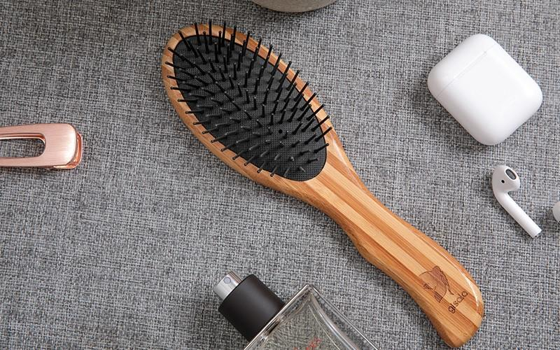 large bamboo round brush gifts for thick hair Boom Home