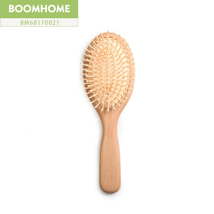 Small Massage Boar Bristle Round Brush For Hair Easy To Carry