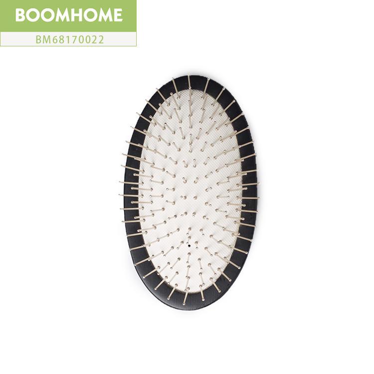 Round Black Airbag Wooden Massage Hair Brush Comb Steel Needle Anti-static Health
