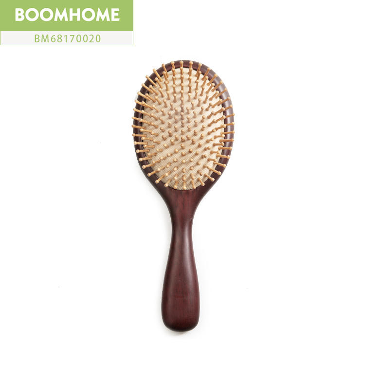 New Air Cushion Large Massage Hair Brush Wood Round Natural Anti-static