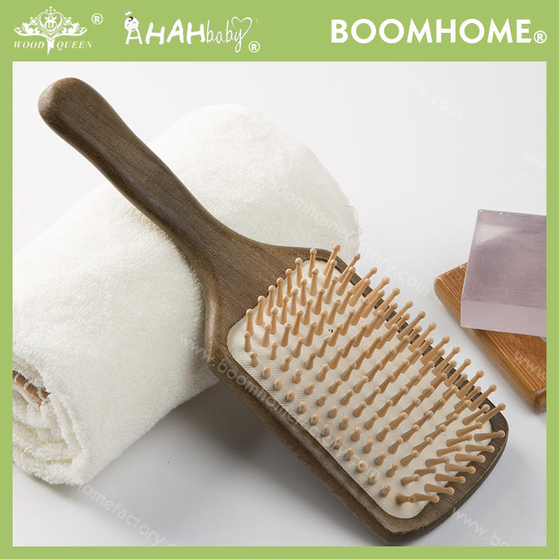 New Retro Style Large Paddle Brush With Wooden Handle