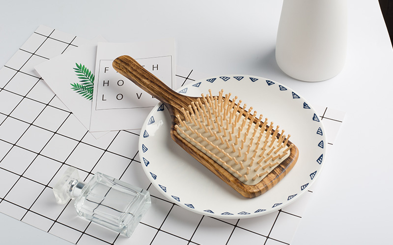 High-quality wooden handle hair brush logo factory for travel-1