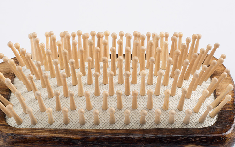 High-quality wooden handle hair brush logo factory for travel-4