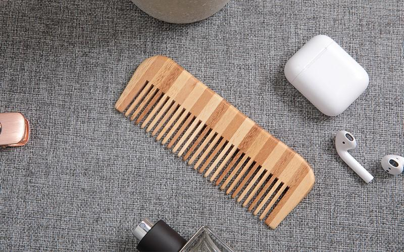 Boom Home comb bamboo hair brush for business for men-1