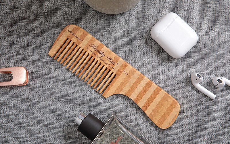 Boom Home round bamboo paddle brush company for curly hair-1