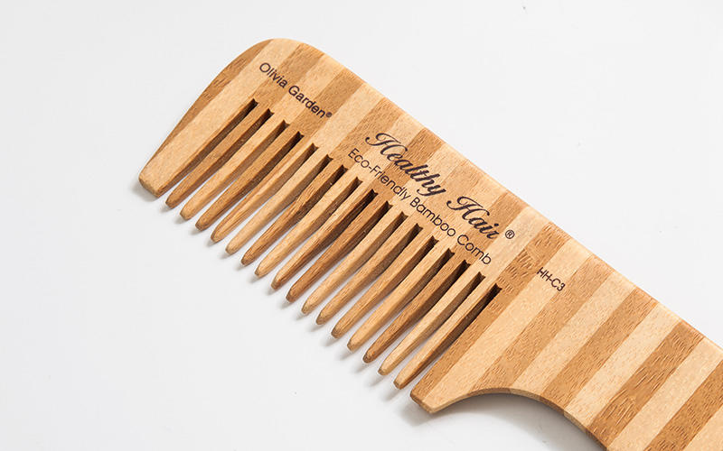Boom Home eco-friendly bamboo hair comb personalized for women