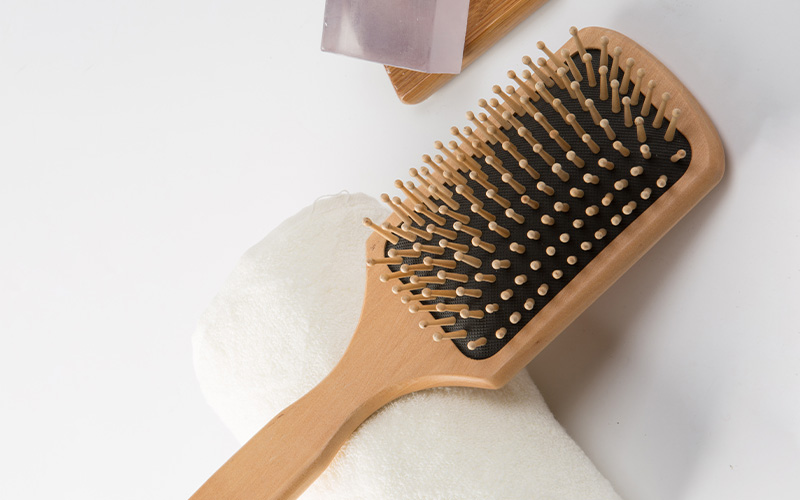 Latest wooden paddle hair brush steel supply for shop-2