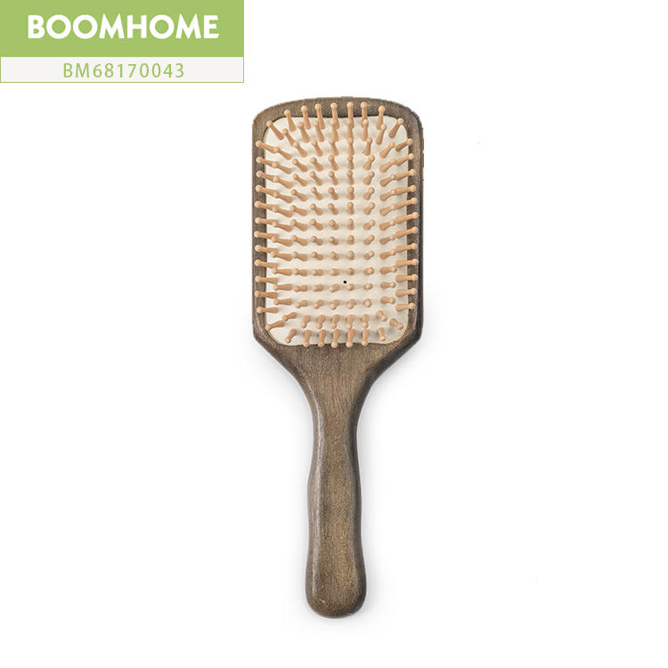 High Quality Custom Logo Wood Hair Brush