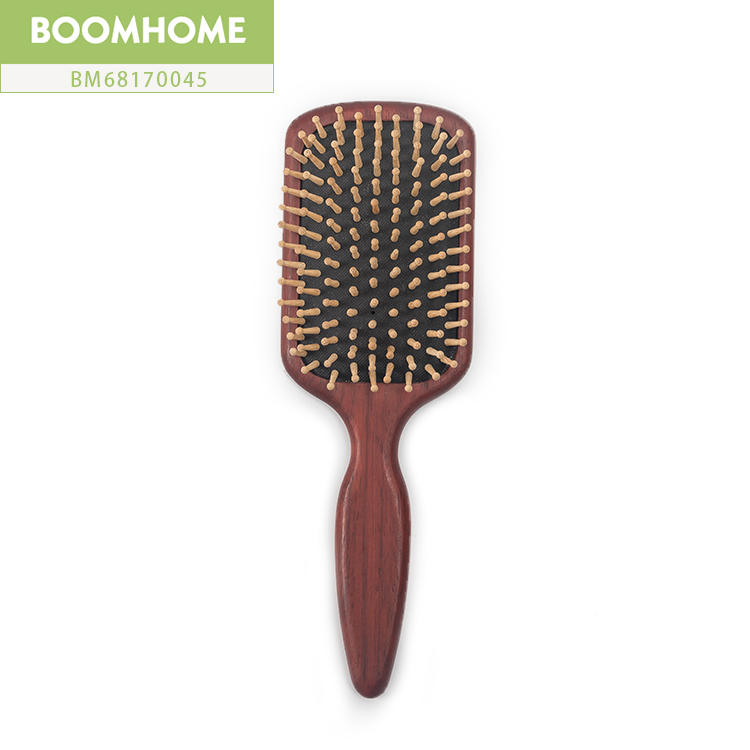 Brown Large Personalized Wooden Hair Brush For Holiday Gift