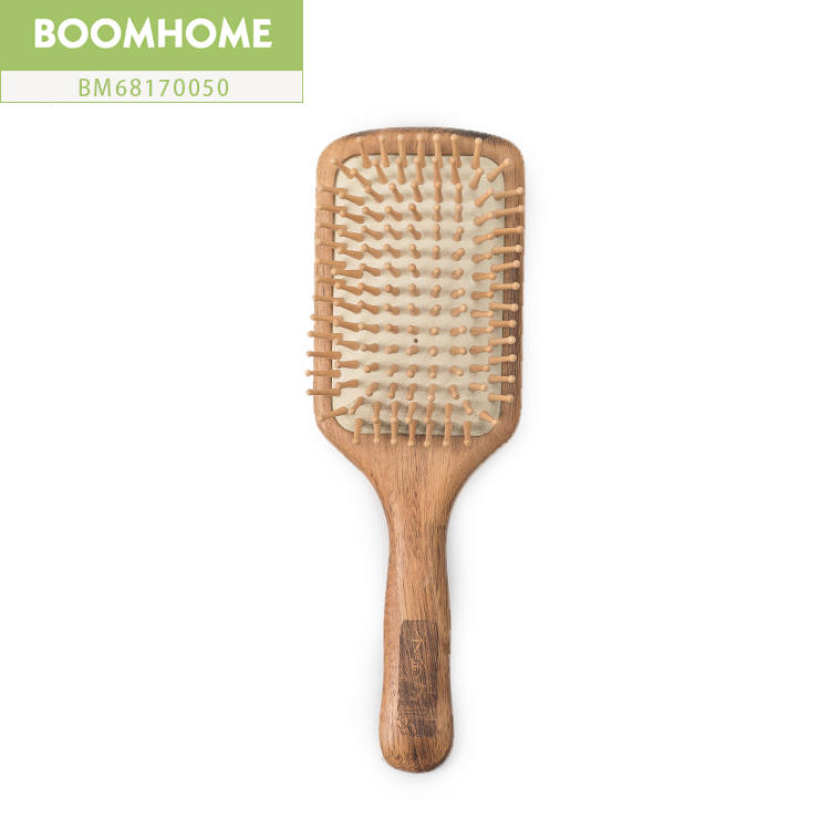 Eco-friendly Personalized Wooden Paddle Hair Brush For Men
