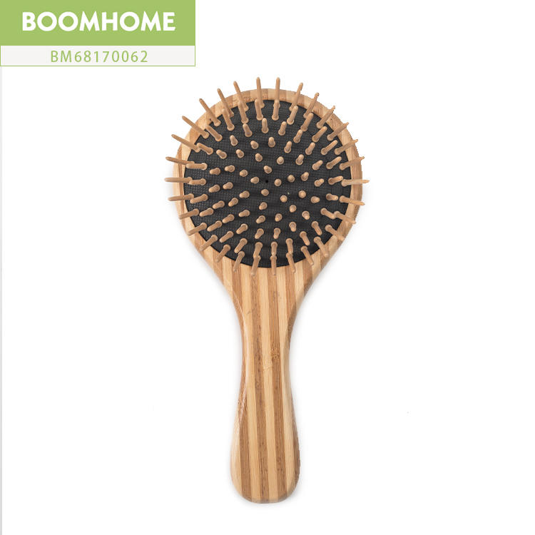 Custom Logo Round Bamboo Round Hair Brush