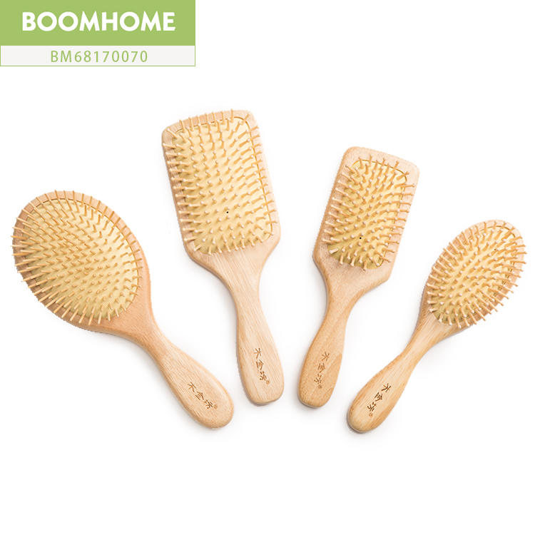 Professional Eco-friendly Hair Brush Wood Round For Private Labels