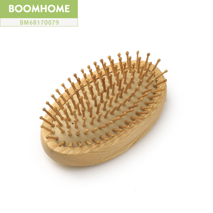 Personalized Wooden Hair Brush Round For Beauty Gift