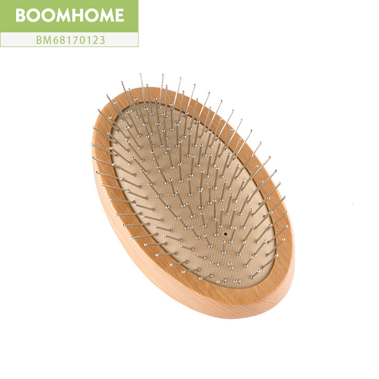Professional Wood Round Brushes For Hair With Stainless Pins